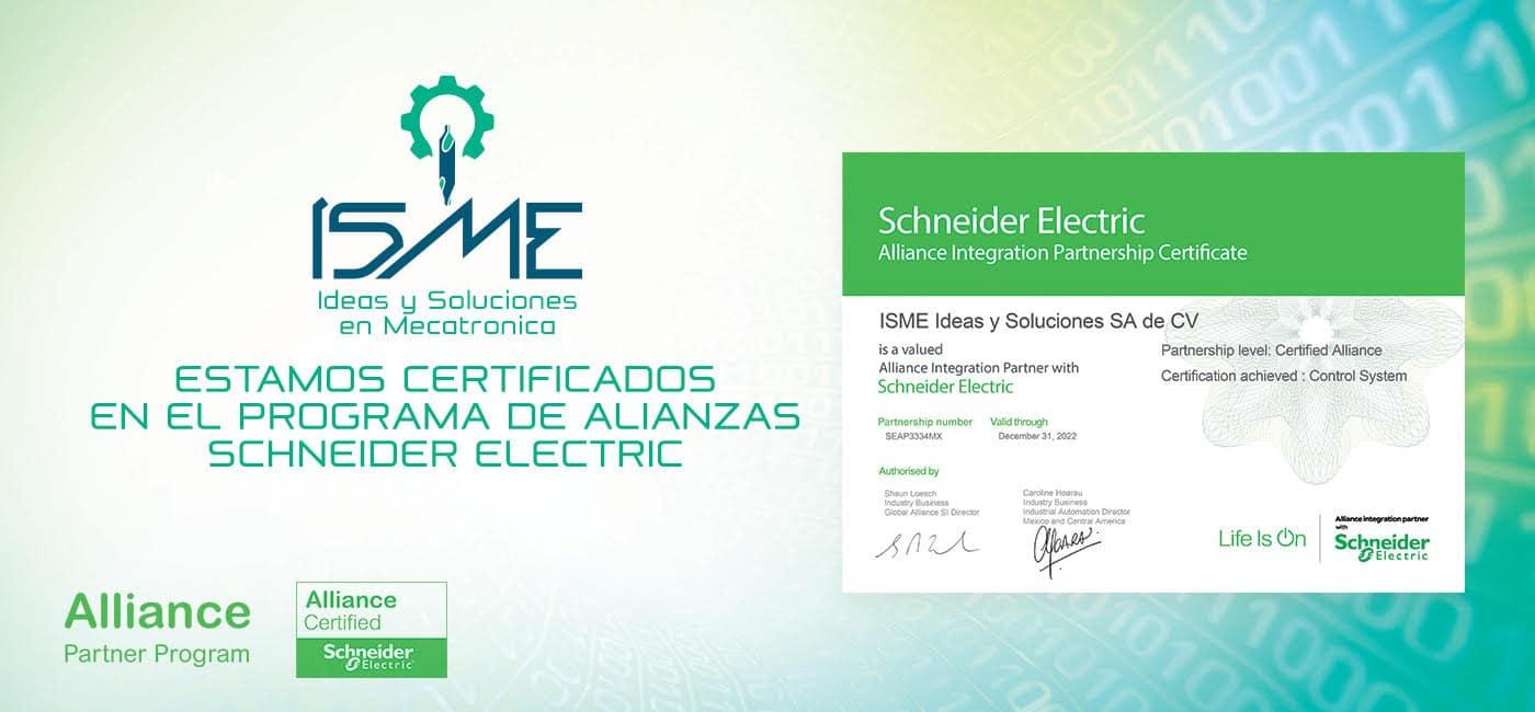 Certificación Programa de Alianzas de Schneider Electric
